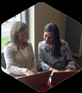 job share partners work on a plan